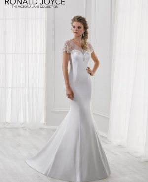 Fishtail slipper satin gown - Lucinda 18110