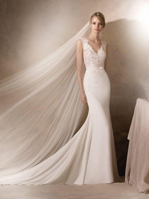 Delicate mermaid style wedding dress - HALDISA
