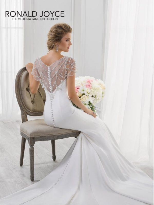 Fishtail slipper satin gown - Lucinda 18110