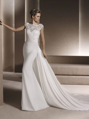 Mermaid wedding dress in chiffon - RENE