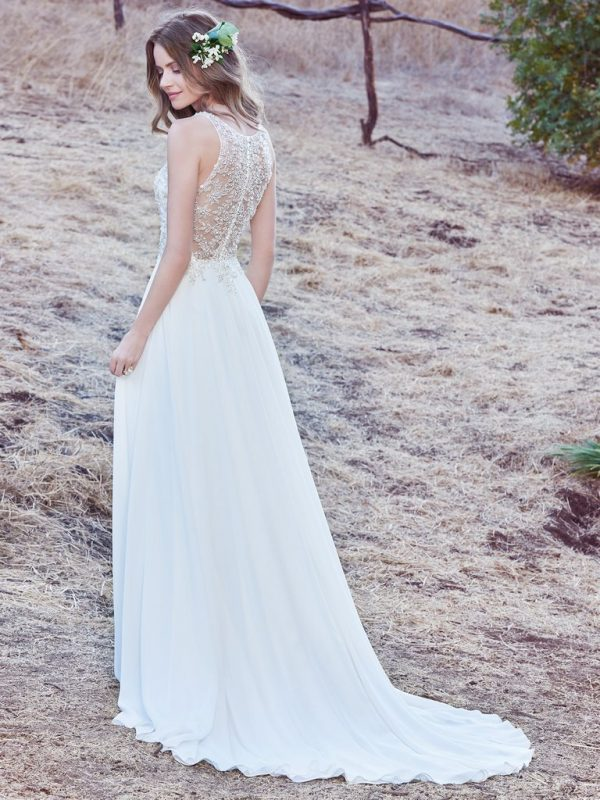 Sleeveless sheath wedding gown - Maren