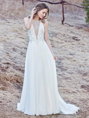 Sleeveless sheath wedding gown - Maren