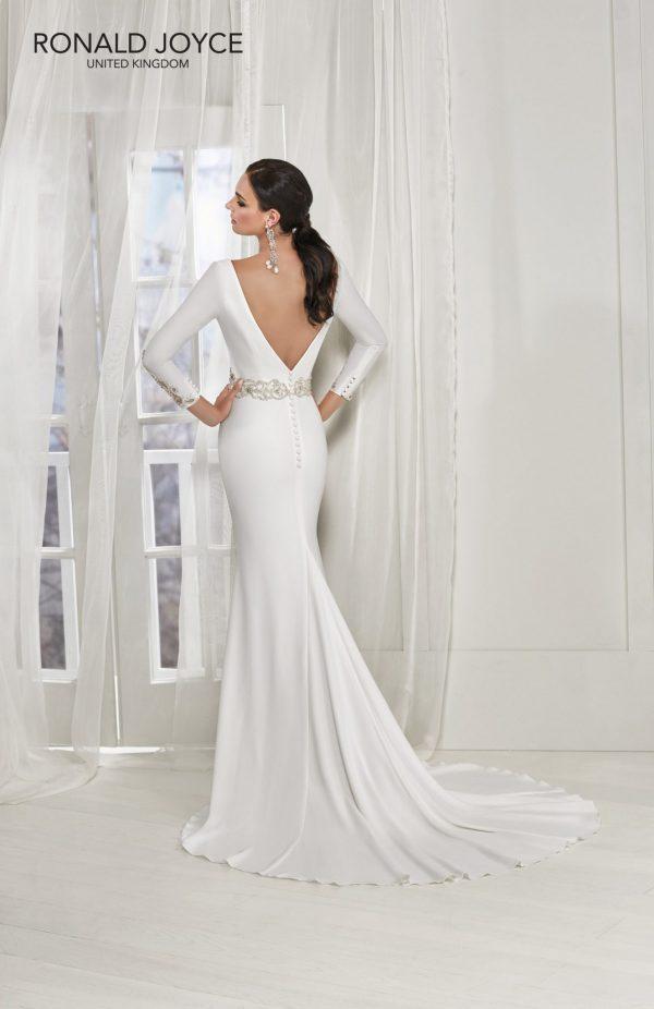 ¾ length sleeved crepe dress - Tai 18202