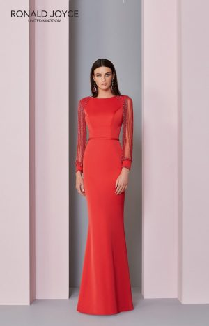 Floor length crepe dress -29301