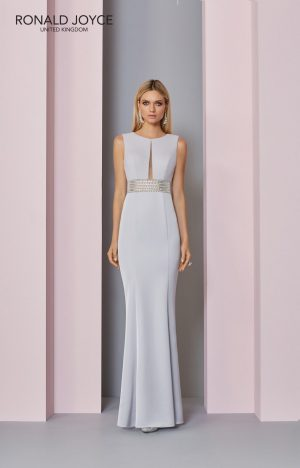 Floor length crepe dress - 29303