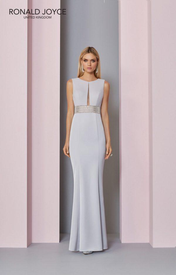 Floor length crepe dress - 29303