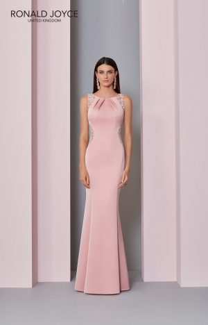 Floor length crepe dress - 29305