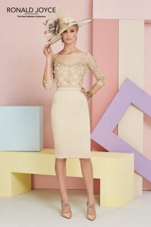 Knee Length Satin Back Crepe Dress - 991337