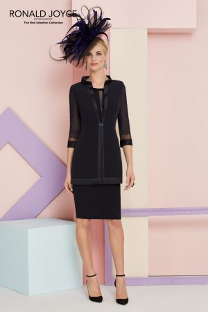 Crepe Dress with Sheer - 991342