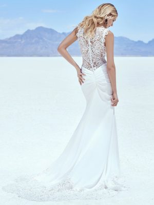 Crepe wedding dress - Elliott 11208