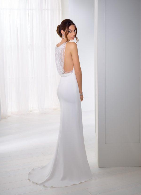 A chic crepe wedding dress - Teresa 18253