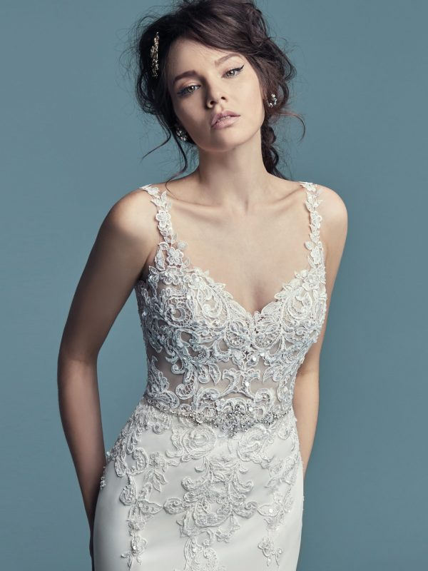 Aldora Crepe wedding dress - Alaina