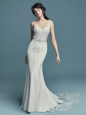 Aldora Crepe wedding dress - Alaina