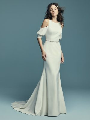 Soft fit-and-flare wedding dress - Claudia