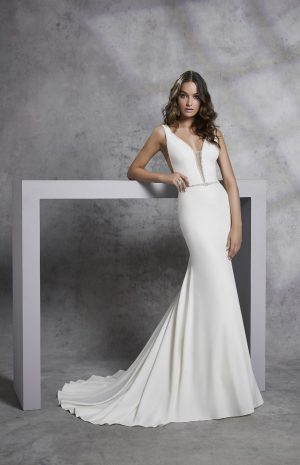 Jersey Crepe Gown - Irsina 18302