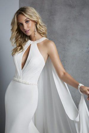 Chiffon and jersey dress - Calissa 69411