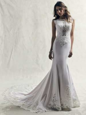 Fit-and-flare wedding gown - Jasper