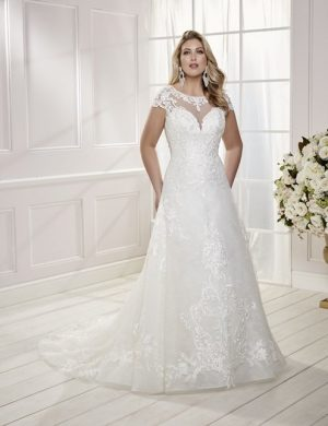 Sleeveless Wedding Dress - Clelia 69475