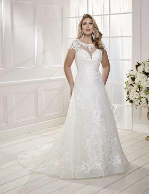 Sleeveless Wedding Dress - Clelia 69475