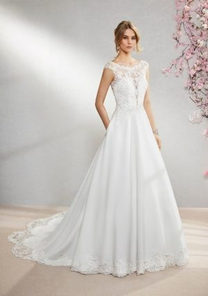 Stretch Crepe Wedding Dress - Ivonne 18363