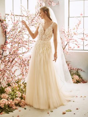 Glittering sheath gown - Fern