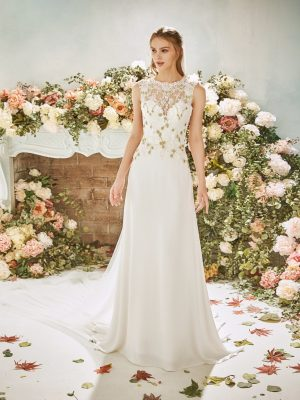 Soft crepe Wedding Dress - Holly