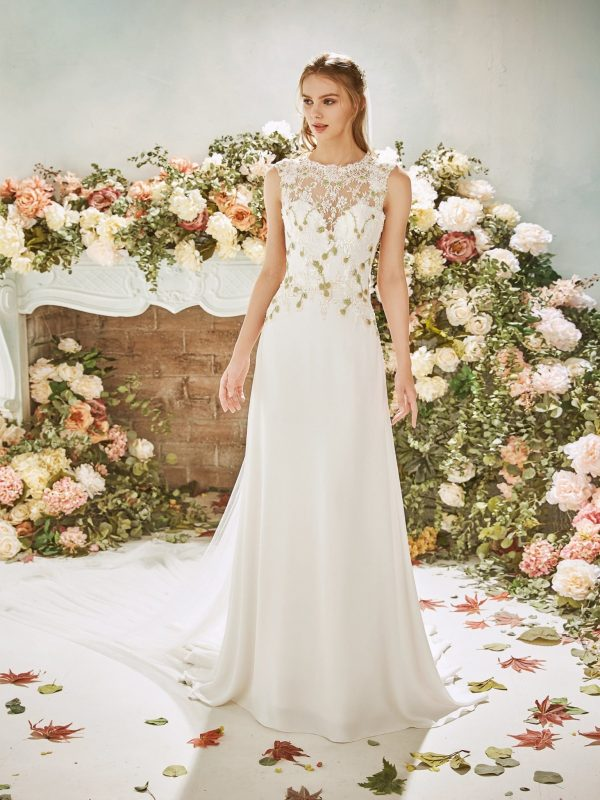 Soft crepe Wedding Dress - Holly