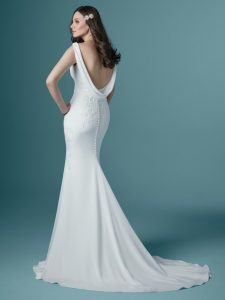 Low-back wedding dress - Bertina