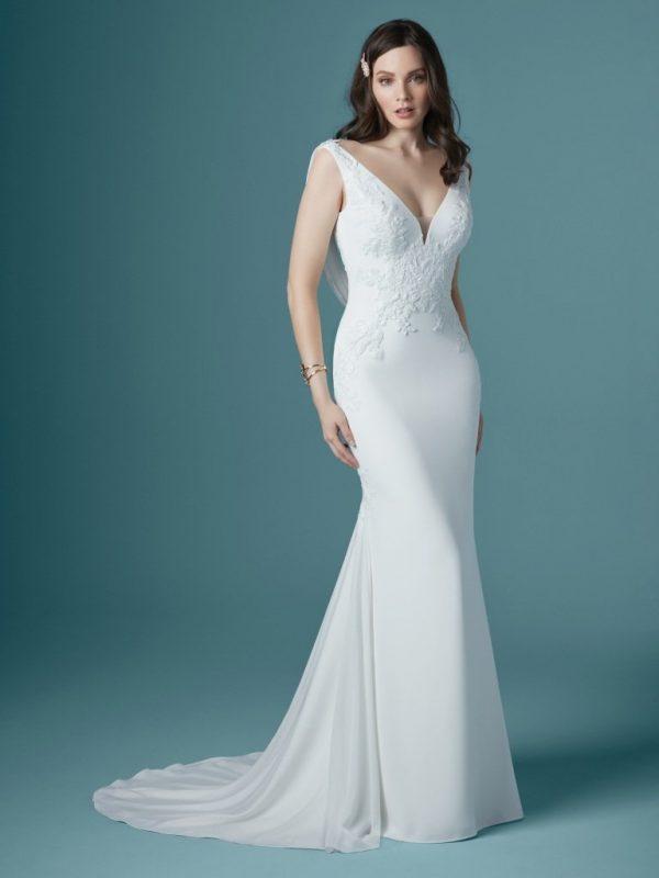 Low-back wedding dress - Bertina