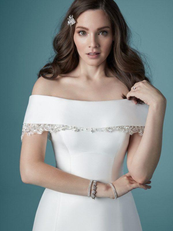 Off-the-shoulder wedding dress - Rachel