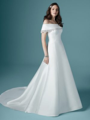 Off-the-shoulder wedding dress - Rachel