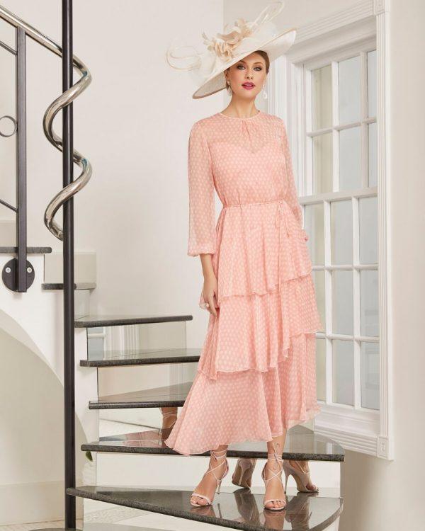 Romantic long chiffon dress - 991441